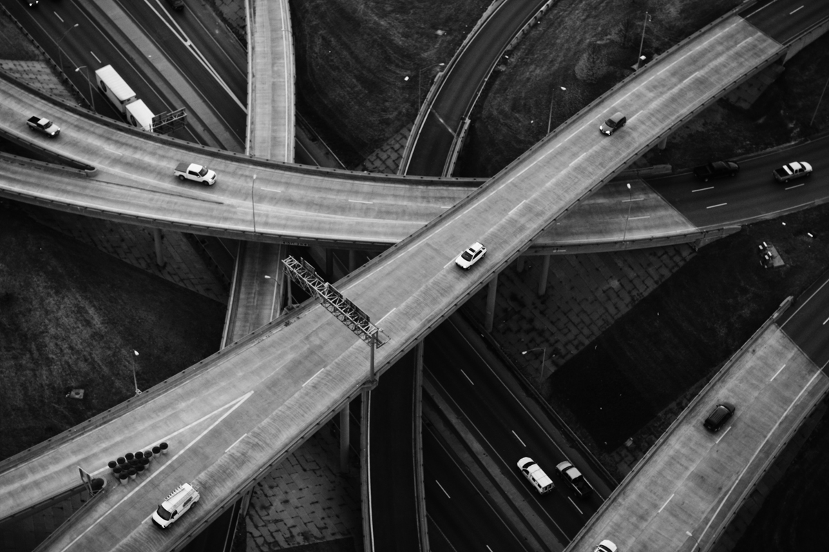 Black And White Aerial Photography