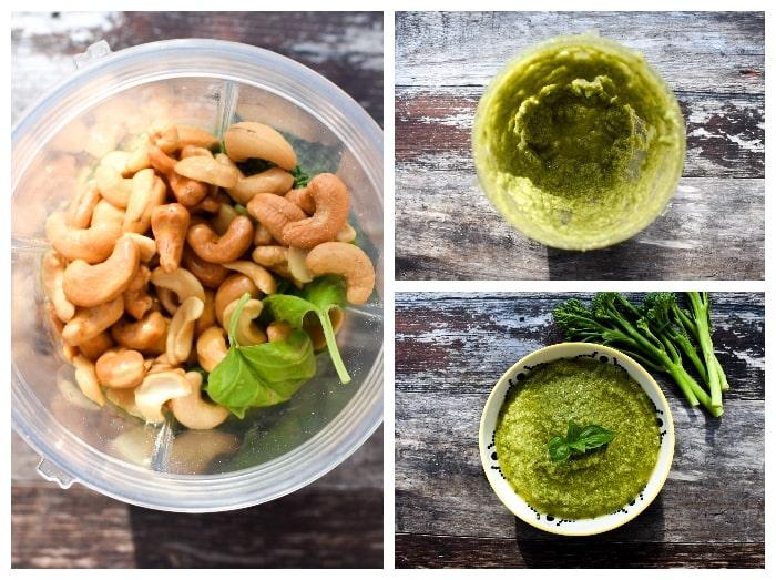 Making broccoli pesto - step 2