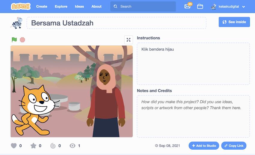 Animasi Allah Maha Penyayang Untuk Anak PAUD dan TK Dibuat Dengan Coding Scratch 3.0