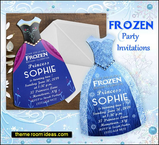 FROZEN party invitations elsa party invitations anna party invitations  Anna Birthday Invitation, Snow Princess Birthday Invitation, Princess Invitation, Anna Party, Elsa and Anna Dress Birthday Invitation