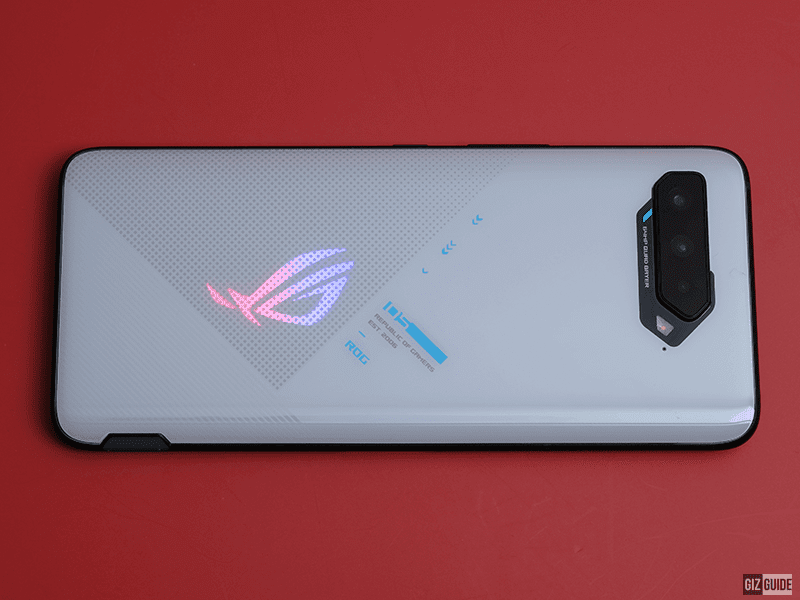 ROG Phone 5 with RGB at the back
