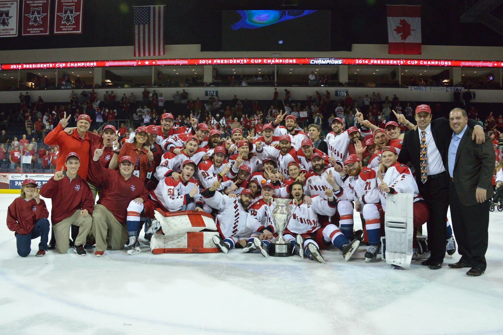 The Allen Americans win the 2014 CHL title for second straight season. Photo courtesy: SceneByKimberly