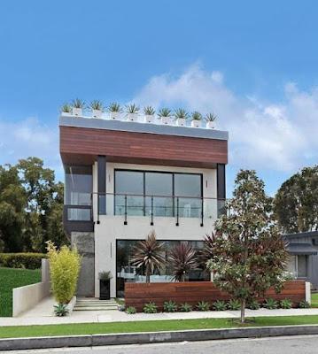 rumah modern atap datar