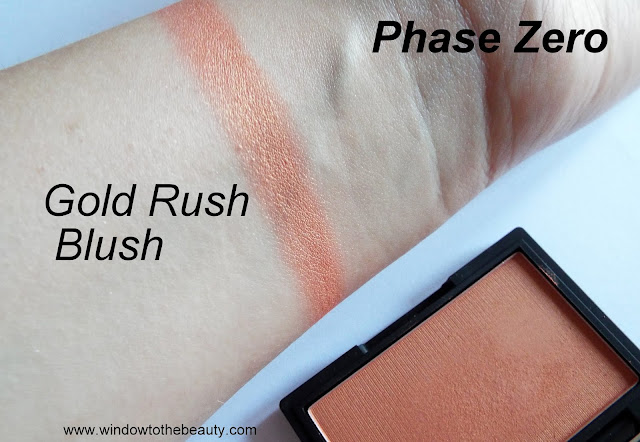 Phase Zero shade Gold Rush swatches