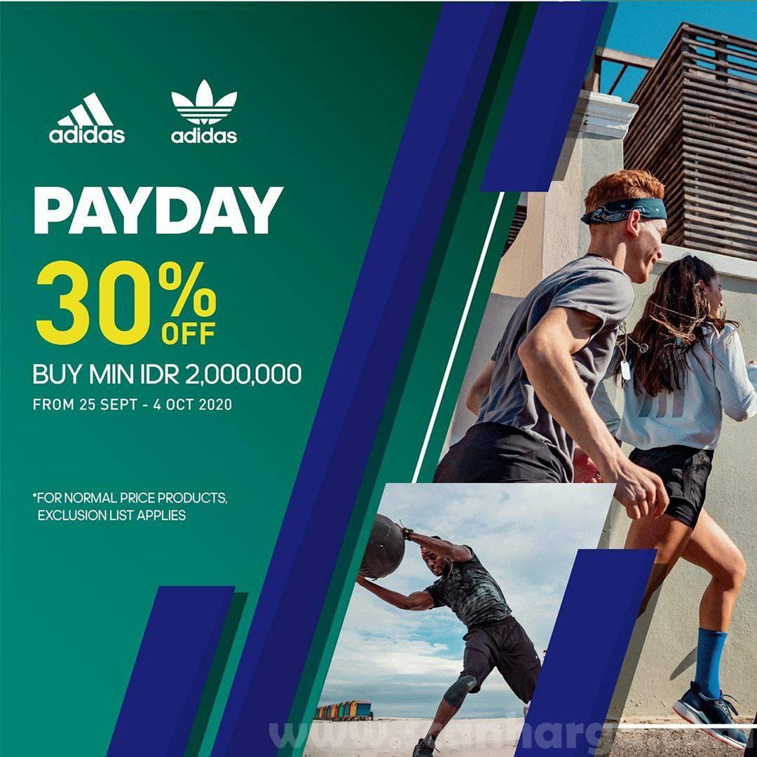 Promo ADIDAS Payday Disc 30% Off 25 September - 4 Oktober 2020