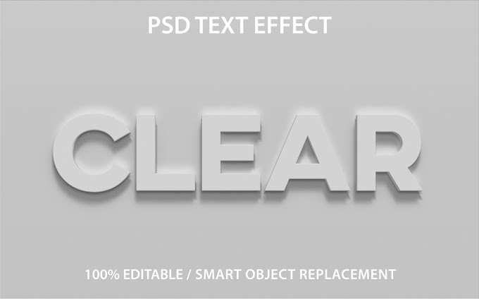 Clear Text Effect PSD