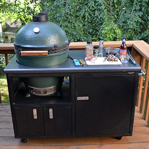 Big Green Egg in a Challenger Designs Torch cart