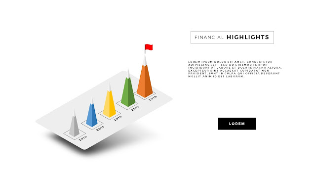 Free PowerPoint Template with Perspective Chart Effect Slide 2
