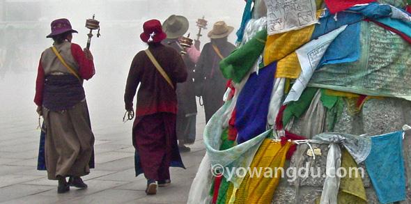 Barkhor Kora in Lhasa, Tibet