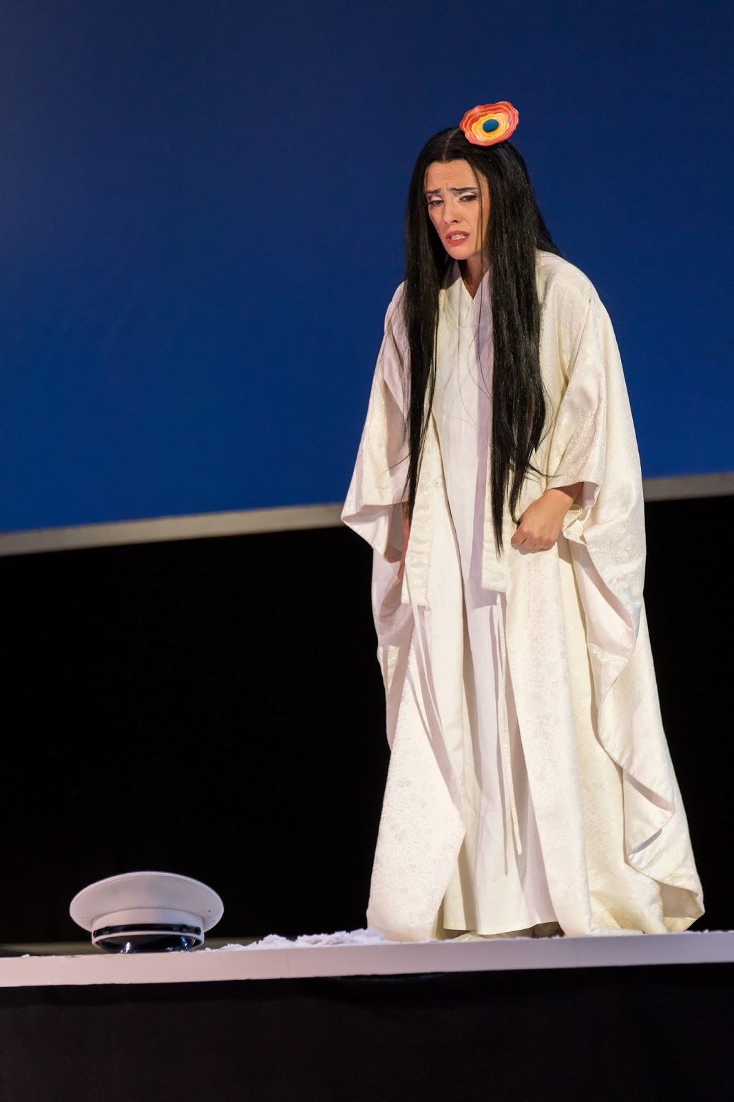 IN PERFORMANCE: Soprano ERMONELA JAHO as Cio-Cio-San in Washington National Opera's production of Giacomo Puccini's MADAMA BUTTERFLY, May 2017 [Photo by Scott Suchman, © by Washington National Opera]