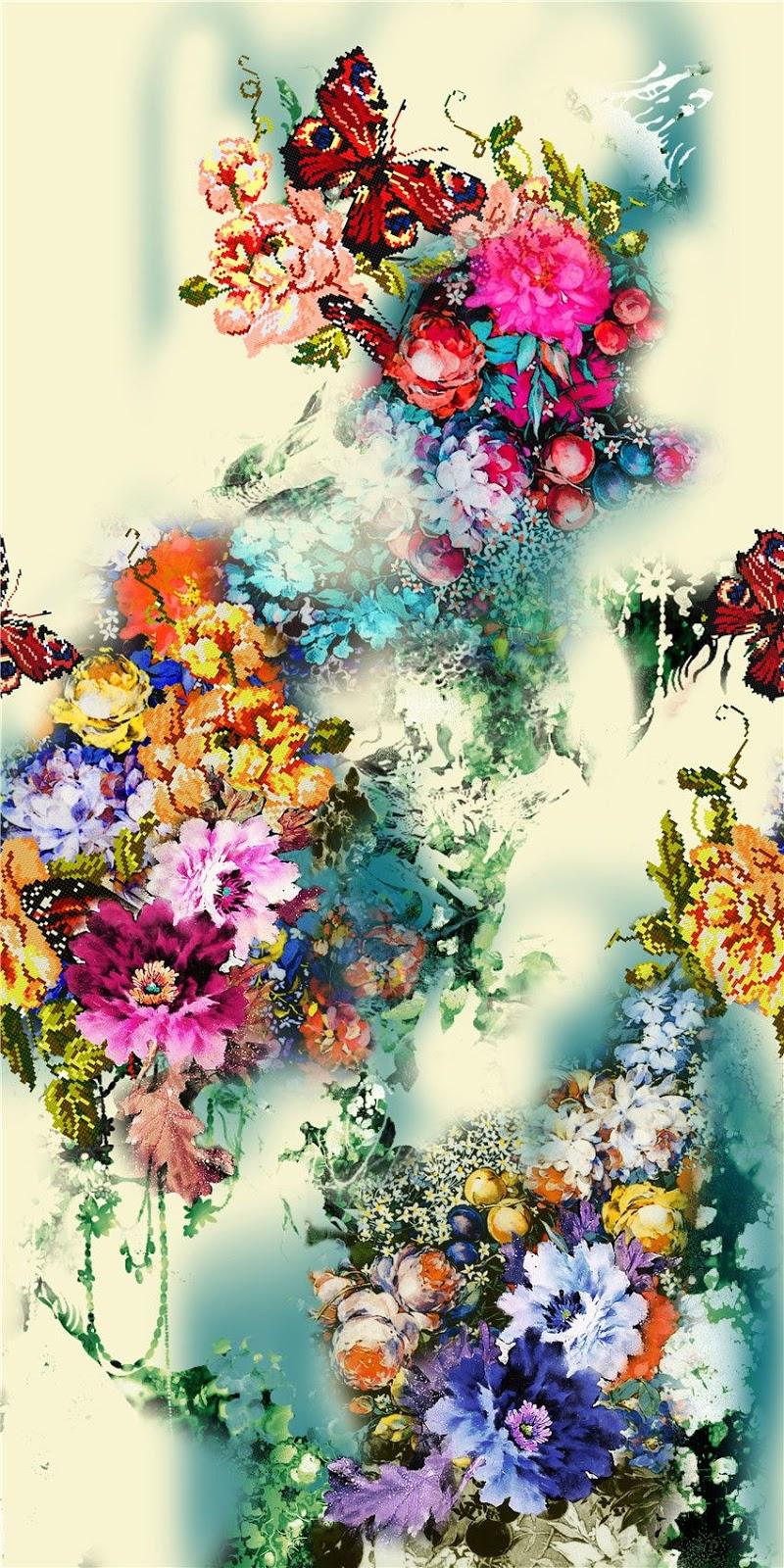 Painting Flower Design Digital Print 1 Blisse Design Studio