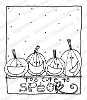 Cute to Spook Rubber Stamp from Impression Obsession