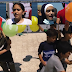 Children in Gaza Release Balloons and Throw
