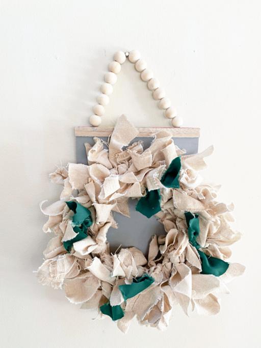 DIY wreath on a hanger