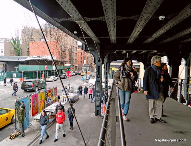 Gansevoort Street, acesso ao Parque High Line em Nova York