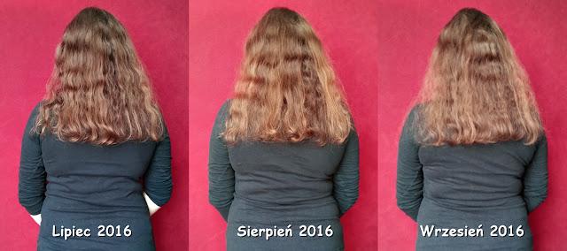 włosy - lipiec, sierpień, wrzesień 2016
