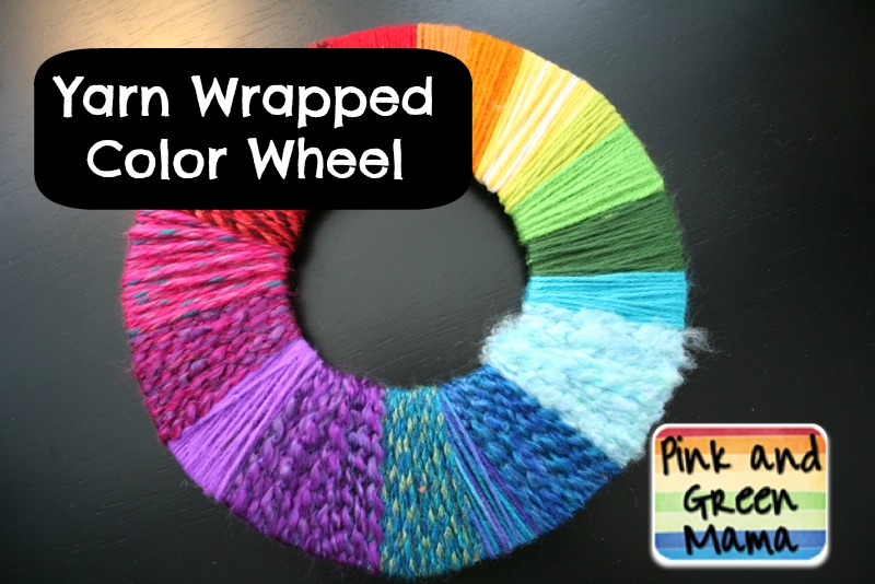Pink and Green Mama: * Anytime Craft: Rainbow Yarn Wrapped ...