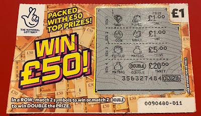 £1 Win £50 Scratchcard