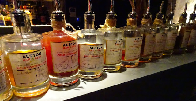 Home Infused Gins at Alston Bar and Beef Corn Exchange Manchester