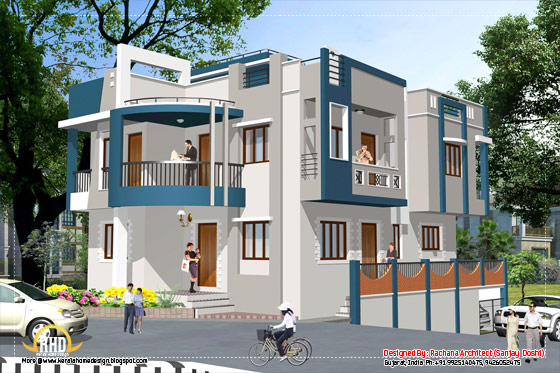 India house design - Elevation - 2435 Sq.Ft.