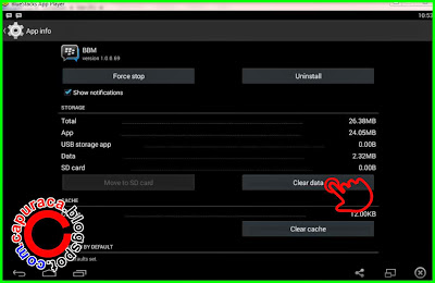 Cara log out BBm Bluestacks