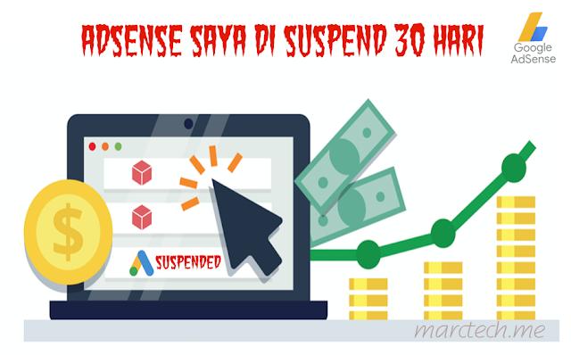 Akun Adsense di Suspend 30 Hari