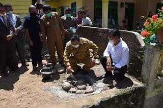 Wali Kota Sibolga Letakkan Batu Pertama Pembangunan GSJA Aek Muara Pinang