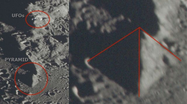 NASA photograph shows huge Saucer-shaped UFO above the Moon's surface  Saucer-shaped-ufo-pyramid-moon%2B%25283%2529