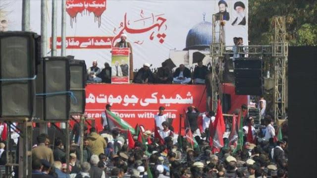Paquistaníes alaban rol de Soleimani y piden salida de EEUU de zona