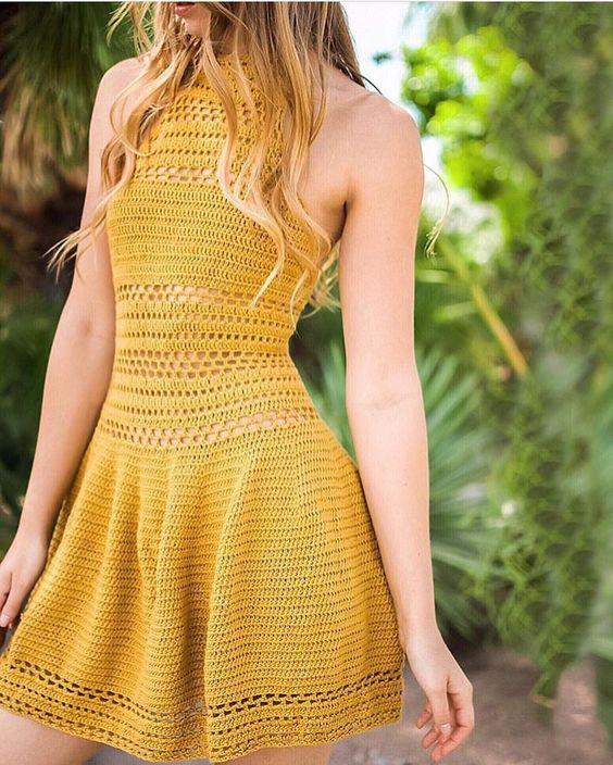 sukienka letnia szydełkiem ze szczegółowym opisem
