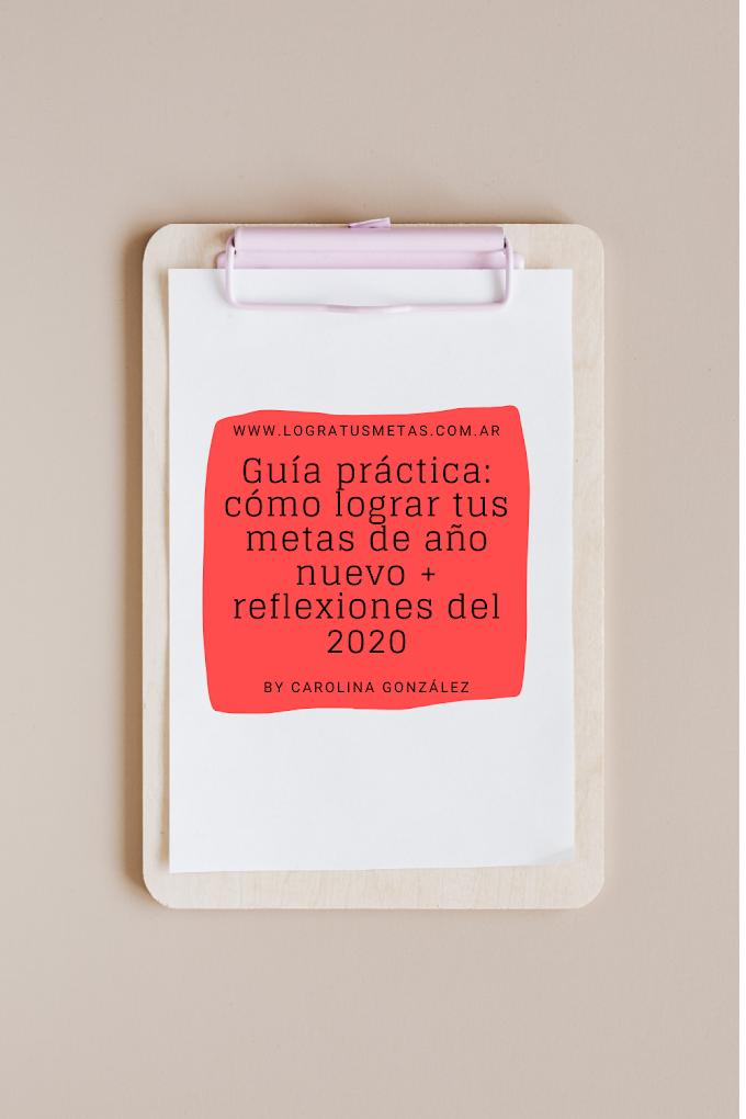 Guía práctica: Cómo cumplir tus metas de año nuevo + reflexiones del 2020