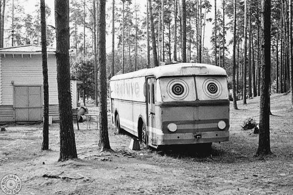 1975 год. Межапарк. Шкода 8Тр переделанная под тир