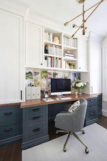 مكتب منزلي ، ديكور مكتب منزلي لصناع المحتوى والمصممين