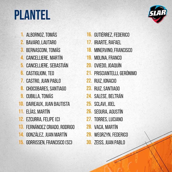 Plantel de Jaguares XV para la Superliga #SLAR
