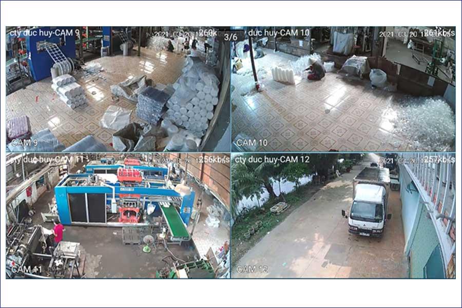 Lắp camera cho xưởng sản xuất tại Hóc Môn