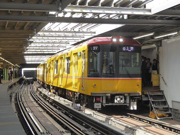 銀座線 上野行き4 1000系(駅ナンバリング付)