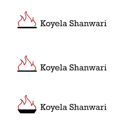 restaurant logo with coal and fire