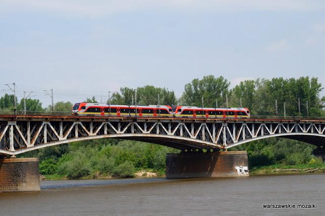 pociąg kolej most kolejowy Warsaw miasto Wisła rejs po Wiśle city rok Wisły 2017 tramwaj wodny