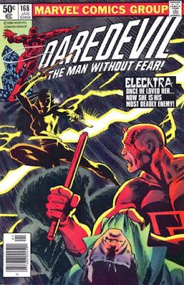Daredevil #168, Elektra