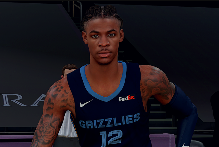 Ja Morant Cyberface Current Look V2 By Keith Navaja [FOR 2K21]