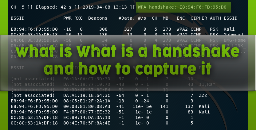 what is Handshake and how to capture it in Kali Linux - KaliTut
