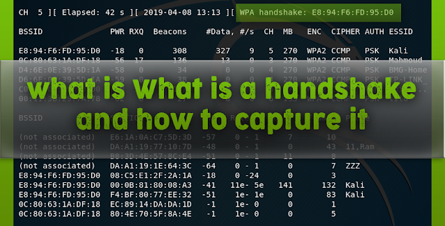 Handshake in Kali Linux