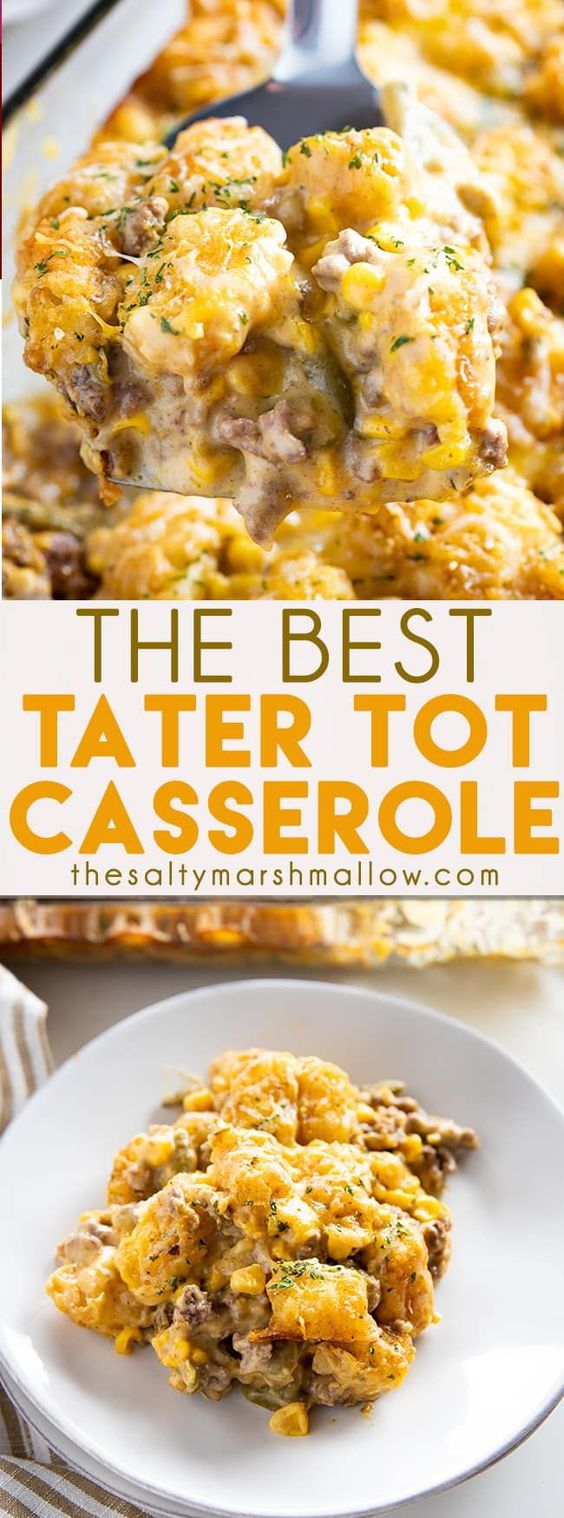 Tater Tot Casserole - Dessert Recipes Light