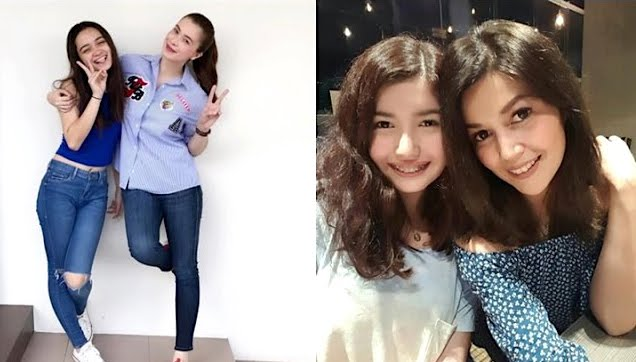 Sunshine Cruz and Daughter Angelina, Donna Cruz and Daughter Belle