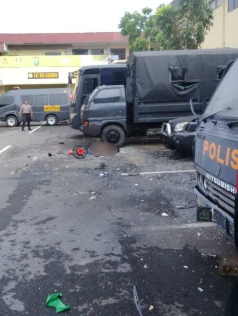 Bom Meledak di Medan, Pelaku Berbaju Ojol