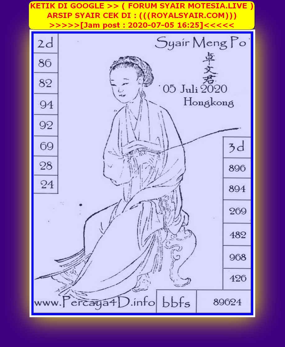 Kode syair Hongkong Minggu 5 Juli 2020 173