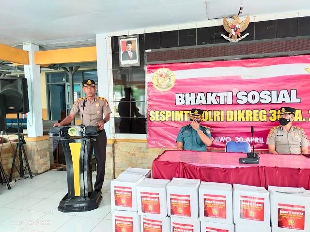 Serdik Sespimti 30 Gelar Bhakti Sosial Kepada Warga Terdampak Gempa di Lumajang.