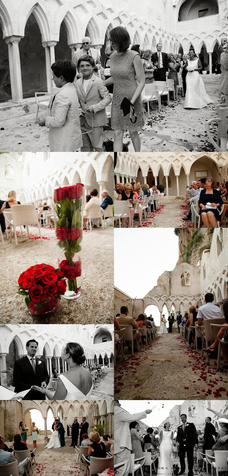 Wedding ceremony at the Hotel Convento in Amalfi