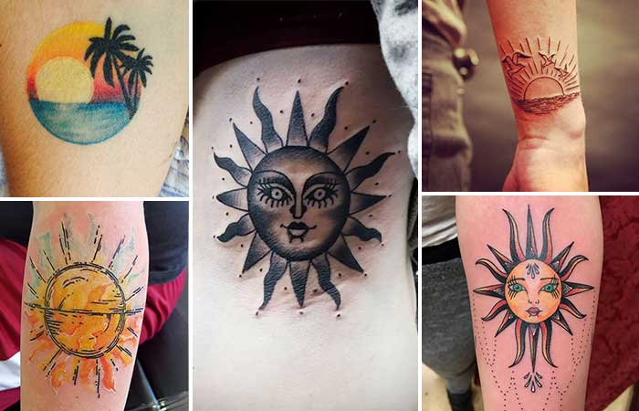 güneş dövmesi modelleri sun tattoos types