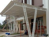 Pemasangan Kanopi Alderon di Graha raya Bintaro ,Tangerang
